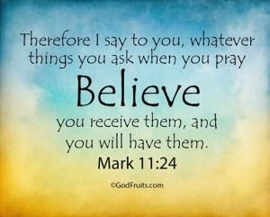 believe-receive